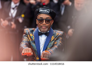CANNES, FRANCE - MAY 14, 2018: Spike Lee attends the screening of 'Blackkklansman' during the 71st annual Cannes Film Festival at Palais des Festivals