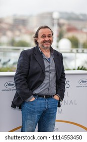 CANNES, FRANCE - MAY 14, 2018:  Natalino Balasso attends the photocall for 'Happy As Lazzaro (Lazzaro Felice)' during the 71st annual Cannes Film Festival