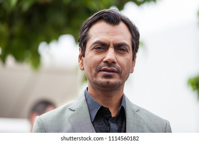 CANNES, FRANCE - MAY 14, 2018: Indian actor Nawazuddin Siddiqui attends the photocall for 'Manto' during the 71st annual Cannes Film Festival