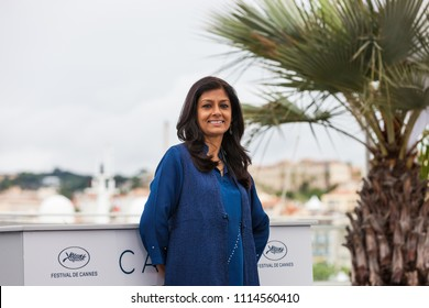 CANNES, FRANCE - MAY 14, 2018: Indian film director Nandita Das attends the photocall for 'Manto' during the 71st annual Cannes Film Festival