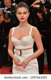"CANNES, FRANCE. May 14, 2019: Selena Gomez at the gala premiere for ""The Dead Don't Die"" at the Festival de Cannes.