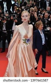 "CANNES, FRANCE. May 14, 2019: Elle Fanning at the gala premiere for ""The Dead Don't Die"" at the Festival de Cannes.