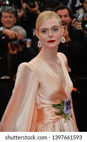 """CANNES, FRANCE. May 14, 2019: Elle Fanning at the gala premiere for """"The Dead Don't Die"""" at the Festival de Cannes.Picture: Paul Smith / Featureflash"""