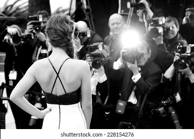 CANNES, FRANCE - MAY 14: Actress Adele Exarchopoulos attends the Opening ceremony during the 67th Cannes Film Festival on May 14, 2014 in Cannes, France.