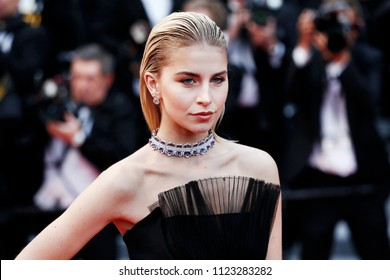 CANNES, FRANCE - MAY 14: Caro Daur attends the screening of 'BlacKkKlansman' during the 71st Cannes Film Festival on May 14, 2018 in Cannes, France.