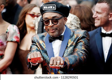 CANNES, FRANCE - MAY 14: Director Spike Lee attends the screening of 'Blackkklansman' during the 71st Cannes Film Festival on May 14, 2018 in Cannes, France.