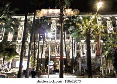 CANNES, FRANCE - MAY 14: A general view of Hotel CARLTON CANNES during the 66th Annual Cannes Film Festival on May 14, 2013 in Cannes, France.