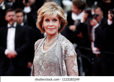 CANNES, FRANCE - MAY 14:  Jane Fonda attends the screening of 'BlacKkKlansman' during the 71st Cannes Film Festival on May 14, 2018 in Cannes, France.