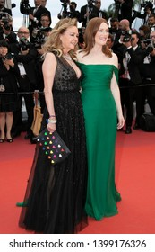 "CANNES, FRANCE - MAY 14: Julianne Moore, and Caroline Scheufele attend the opening ceremony and screening of ""The Dead Don't Die"" during the 72nd annual Cannes Film Festival on May 14, 2019 in Canne"