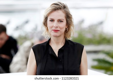 CANNES, FRANCE - MAY 14:  Karin Viard attends the photo-call of 'Little Tickles' during the 71st Cannes Film Festival on May 14, 2018 in Cannes, France.