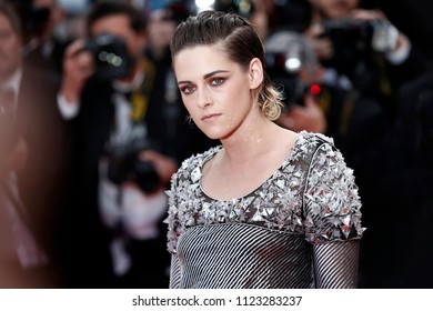 CANNES, FRANCE - MAY 14:  Kristen Stewart attends the screening of 'BlacKkKlansman' during the 71st Cannes Film Festival on May 14, 2018 in Cannes, France.