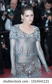 CANNES, FRANCE - MAY 14: Kristen Stewart attends the screening of BlacKkKlansman during the 71st Cannes Film Festival at Palais des Festivals on May 14, 2018 in Cannes, France.