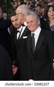 CANNES, FRANCE - MAY 14: Michael Douglas and Shia LaBeouf attends the Premiere of 'Wall Street 2' held at the Palais des Festivals during the 63  Cannes Film Festival on May 14, 2010 in Cannes, France