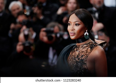 CANNES, FRANCE - MAY 14:  Naomi Campbell attends the screening of 'BlacKkKlansman' during the 71st Cannes Film Festival on May 14, 2018 in Cannes, France.