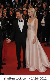 """CANNES, FRANCE - MAY 15, 2013: Tobey Maguire & Carey Mulligan at the premiere of their movie """"The Great Gatsby"""" the opening movie of the 66th Festival de Cannes."""