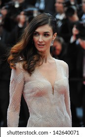 """CANNES, FRANCE - MAY 15, 2013: Paz Vega at the premiere of """"The Great Gatsby"""" the opening movie of the 66th Festival de Cannes."""
