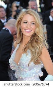 """CANNES, FRANCE - MAY 15, 2014: Blake Lively at the premiere of """"Mr. Turner"""" at the 67th Festival de Cannes."""