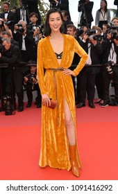 "CANNES, FRANCE. May 15, 2018: Liu Wen at the gala screening for ""Solo: A Star Wars Story"" at the 71st Festival de Cannes"