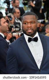 "CANNES, FRANCE. May 15, 2018: Curtis Jackson, aka 50 Cent at the gala screening for ""Solo: A Star Wars Story"" at the 71st Festival de Cannes"