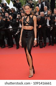 "CANNES, FRANCE. May 15, 2018: Izabel Goulart at the gala screening for ""Solo: A Star Wars Story"" at the 71st Festival de Cannes"