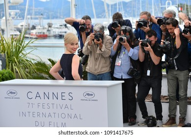 "CANNES, FRANCE. May 15, 2018: Emilia Clarke at the photocall for ""Solo: A Star Wars Story"" at the 71st Festival de Cannes"