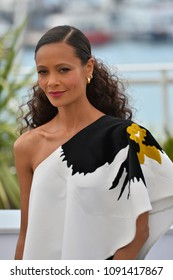 "CANNES, FRANCE. May 15, 2018: Thandie Newton at the photocall for ""Solo: A Star Wars Story"" at the 71st Festival de Cannes"