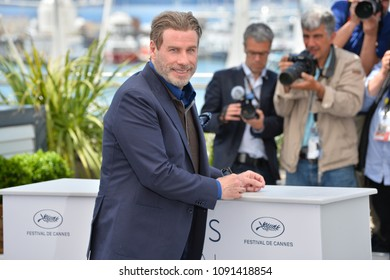"""CANNES, FRANCE. May 15, 2018: John Travolta at the photocall for """"Gotti"""" at the 71st Festival de Cannes"""