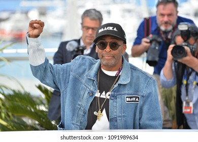 "CANNES, FRANCE. May 15, 2018: Spike Lee at the photocall for ""Blackkklansman"" at the 71st Festival de Cannes"