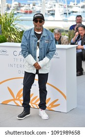 """CANNES, FRANCE. May 15, 2018: Spike Lee at the photocall for """"Blackkklansman"""" at the 71st Festival de Cannes"""