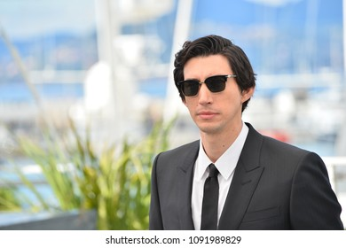 """CANNES, FRANCE. May 15, 2018: Adam Driver at the photocall for """"Blackkklansman"""" at the 71st Festival de Cannes"""
