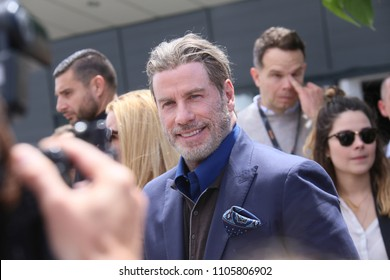 "CANNES, FRANCE. May 15, 2018: John Travolta at the photocall for ""Gotti"" at the 71st Festival de Cannes"