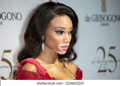 Cannes, France, May 15, 2018, Winnie Harlow attends the De Grisogono Party during the 71st annual Cannes Film Festival in Antibes.