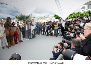 Cannes, France, May 15, 2018, cast members attend the photocall for 'Solo: A Star Wars Story' during the 71st annual Cannes Film Festival at Palais des Festivals