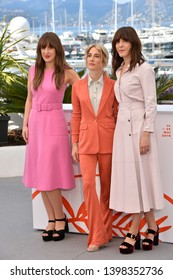 "CANNES, FRANCE. May 15, 2019: Elizabeth Bosse, Nancy Grant & Monia Chokri  at the photocall for ""A Brother's Love"" at the 72nd Festival de Cannes.