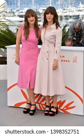 "CANNES, FRANCE. May 15, 2019: Elizabeth Bosse & Monia Chokri  at the photocall for ""A Brother's Love"" at the 72nd Festival de Cannes.