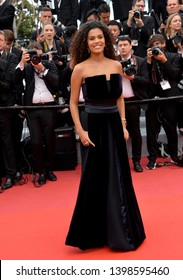 """CANNES, FRANCE. May 15, 2019: Tina Kunakey di Vita at the gala premiere for """"Les Miserables"""" at the Festival de Cannes.Picture: Paul Smith / Featureflash"""