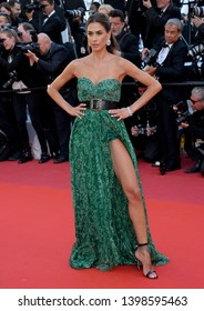"""CANNES, FRANCE. May 15, 2019: Melissa Satta at the gala premiere for """"Les Miserables"""" at the Festival de Cannes.Picture: Paul Smith / Featureflash"""