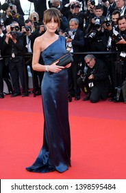 """CANNES, FRANCE. May 15, 2019: Carla Bruni at the gala premiere for """"Les Miserables"""" at the Festival de Cannes.Picture: Paul Smith / Featureflash"""
