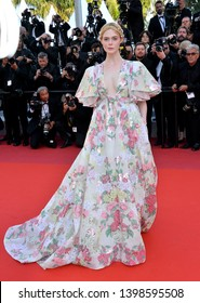 """CANNES, FRANCE. May 15, 2019: Elle Fanning at the gala premiere for """"Les Miserables"""" at the Festival de Cannes.Picture: Paul Smith / Featureflash"""