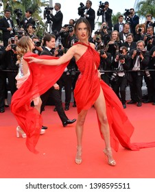 """CANNES, FRANCE. May 15, 2019: Alessandra Ambrosio at the gala premiere for """"Les Miserables"""" at the Festival de Cannes.Picture: Paul Smith / Featureflash"""