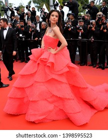 """CANNES, FRANCE. May 15, 2019: Sririta Jensen at the gala premiere for """"Les Miserables"""" at the Festival de Cannes.Picture: Paul Smith / Featureflash"""