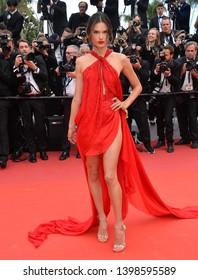 "CANNES, FRANCE. May 15, 2019: Alessandra Ambrosio at the gala premiere for ""Les Miserables"" at the Festival de Cannes.
