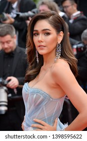 """CANNES, FRANCE. May 15, 2019: Araya A. Hargate at the gala premiere for """"Les Miserables"""" at the Festival de Cannes.Picture: Paul Smith / Featureflash"""