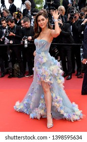 "CANNES, FRANCE. May 15, 2019: Araya A. Hargate at the gala premiere for ""Les Miserables"" at the Festival de Cannes.