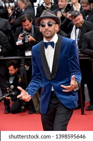 """CANNES, FRANCE. May 15, 2019: JR at the gala premiere for """"Les Miserables"""" at the Festival de Cannes.Picture: Paul Smith / Featureflash"""