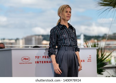 CANNES, FRANCE - MAY 15, 2019:  Marina Fois attends the photocall for the Un Certain Regard Jury during the 72nd annual Cannes Film Festival