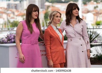 "CANNES, FRANCE - MAY 15, 2019: Anne Elizabeth Bosse, Nancy Grant and Monia Chokri attend the photocall for ""La Femme De Mon Frere"" during the 72nd annual Cannes Film Festival"