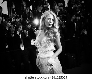 CANNES, FRANCE - MAY 15: Blake Lively attends the 'Mr.Turner' Premiere at the 67th Annual Cannes Film Festival on May 15, 2014 in Cannes, France.