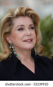 CANNES, FRANCE - MAY 15: Catherine Deneuve attends the 'Homage To The Spanish Cinema' photocall at the Palais des Festivals during the 63rd  Cannes Film Festival on May 15, 2010 in Cannes, France.