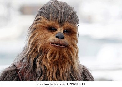 CANNES, FRANCE - MAY 15: Chewbacca attends the photo-call of 'Solo: A Star Wars Story' during the 71st Cannes Film Festival on May 15, 2018 in Cannes, France.